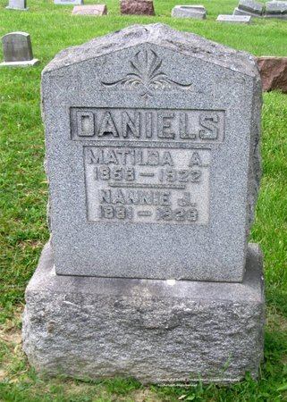 DANIELS, NANNIE J. - Lucas County, Ohio | NANNIE J. DANIELS - Ohio Gravestone Photos