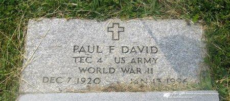 DAVID, PAUL F. - Lucas County, Ohio | PAUL F. DAVID - Ohio Gravestone Photos