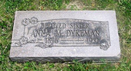 DYKEMAN, ANNA M. - Lucas County, Ohio | ANNA M. DYKEMAN - Ohio Gravestone Photos