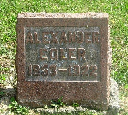EGLER, ALEXANDER - Lucas County, Ohio | ALEXANDER EGLER - Ohio Gravestone Photos