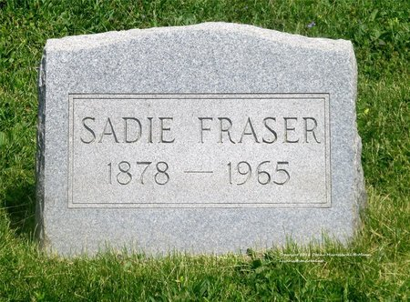 FRASER, SADIE - Lucas County, Ohio | SADIE FRASER - Ohio Gravestone Photos