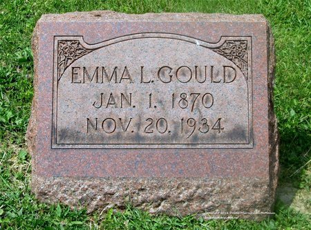 GOULD, EMMA L. - Lucas County, Ohio | EMMA L. GOULD - Ohio Gravestone Photos