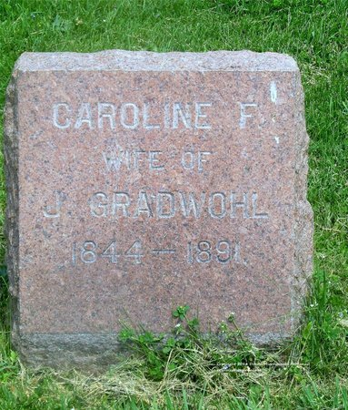 GRADWOHL, CAROLINE F. - Lucas County, Ohio | CAROLINE F. GRADWOHL - Ohio Gravestone Photos
