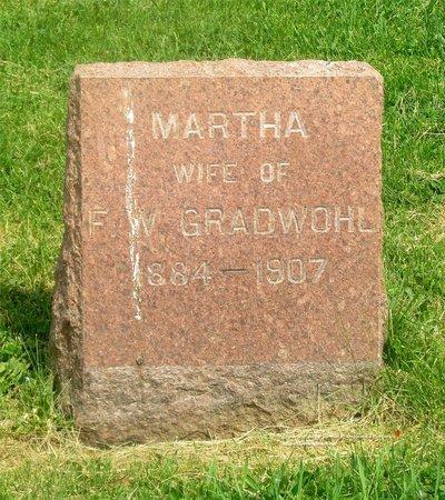 GRADWOHL, MARTHA - Lucas County, Ohio   MARTHA GRADWOHL - Ohio Gravestone Photos