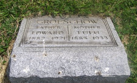 GROESCHOW, EDWARD - Lucas County, Ohio | EDWARD GROESCHOW - Ohio Gravestone Photos