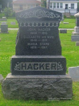 HACKER, ELIZABETH - Lucas County, Ohio | ELIZABETH HACKER - Ohio Gravestone Photos