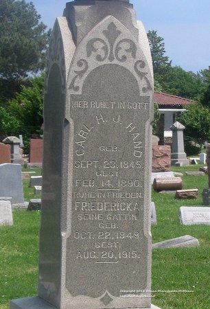 HAND, FRIEDERICKA - Lucas County, Ohio | FRIEDERICKA HAND - Ohio Gravestone Photos