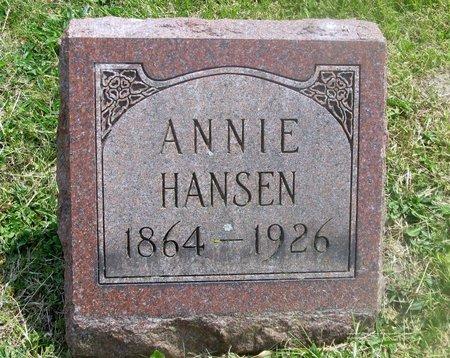 HANSEN, ANNIE - Lucas County, Ohio | ANNIE HANSEN - Ohio Gravestone Photos