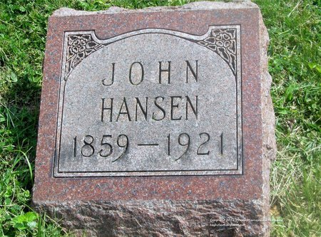 HANSEN, JOHN - Lucas County, Ohio   JOHN HANSEN - Ohio Gravestone Photos