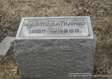 HATHAWAY, MARY L. - Lucas County, Ohio   MARY L. HATHAWAY - Ohio Gravestone Photos