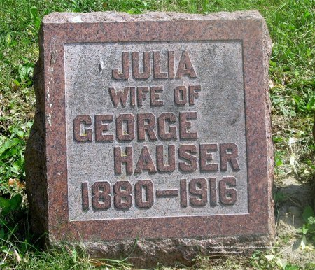 HAUSER, JULIA - Lucas County, Ohio | JULIA HAUSER - Ohio Gravestone Photos