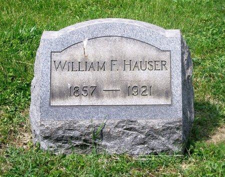 HAUSER, WILLIAM F. - Lucas County, Ohio | WILLIAM F. HAUSER - Ohio Gravestone Photos
