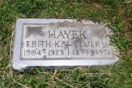 HAYEK, ELMER J. - Lucas County, Ohio | ELMER J. HAYEK - Ohio Gravestone Photos