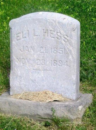 HESS, ELI L. - Lucas County, Ohio | ELI L. HESS - Ohio Gravestone Photos