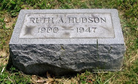 HUDSON, RUTH A. - Lucas County, Ohio   RUTH A. HUDSON - Ohio Gravestone Photos