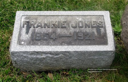 JONES, FRANKIE - Lucas County, Ohio | FRANKIE JONES - Ohio Gravestone Photos