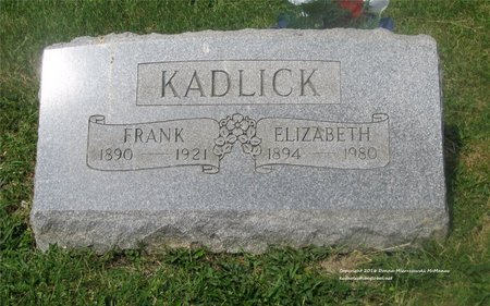 KADLICK, ELIZABETH - Lucas County, Ohio | ELIZABETH KADLICK - Ohio Gravestone Photos