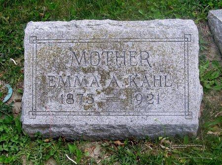 KAHL, EMMA A. - Lucas County, Ohio   EMMA A. KAHL - Ohio Gravestone Photos