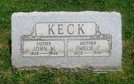 KECK, EMELIE C. - Lucas County, Ohio | EMELIE C. KECK - Ohio Gravestone Photos