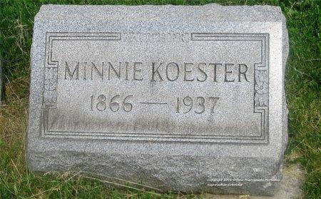 KRUEGER KOESTER, MINNIE - Lucas County, Ohio | MINNIE KRUEGER KOESTER - Ohio Gravestone Photos