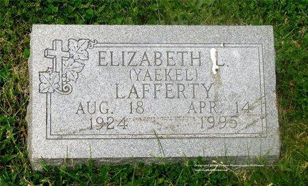YAEKEL LAFFERTY, ELIZABETH L. - Lucas County, Ohio | ELIZABETH L. YAEKEL LAFFERTY - Ohio Gravestone Photos