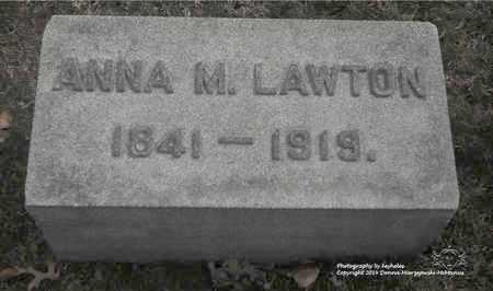 LAWTON, ANNA M. - Lucas County, Ohio   ANNA M. LAWTON - Ohio Gravestone Photos