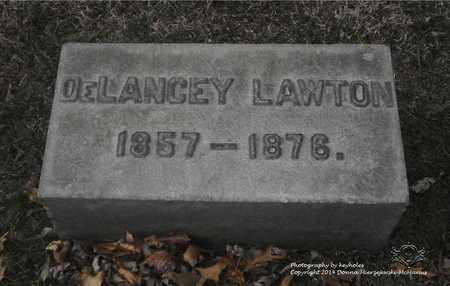 LAWTON, DELANCEY - Lucas County, Ohio   DELANCEY LAWTON - Ohio Gravestone Photos