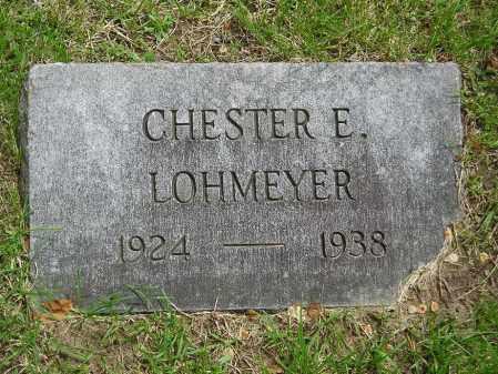 LOHMEYER, CHESTER E - Lucas County, Ohio | CHESTER E LOHMEYER - Ohio Gravestone Photos