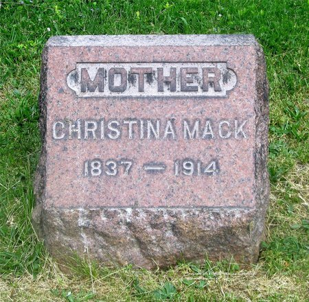MACK, CHRISTINA - Lucas County, Ohio | CHRISTINA MACK - Ohio Gravestone Photos