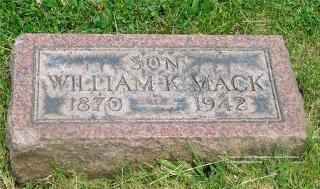 MACK, WILLIAM K. - Lucas County, Ohio | WILLIAM K. MACK - Ohio Gravestone Photos