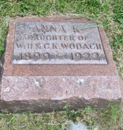 WODACH MANAGHAN, ANNA K - Lucas County, Ohio | ANNA K WODACH MANAGHAN - Ohio Gravestone Photos