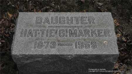 MARKER, HATTIE G. - Lucas County, Ohio | HATTIE G. MARKER - Ohio Gravestone Photos