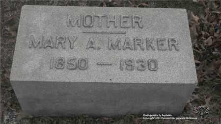 MARKER, MARY A. - Lucas County, Ohio   MARY A. MARKER - Ohio Gravestone Photos