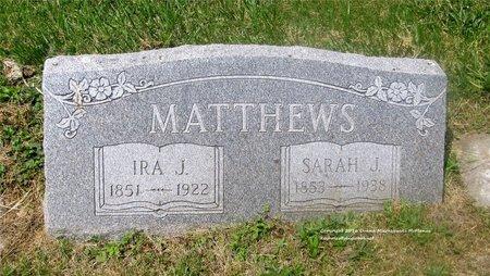 MATTHEWS, SARAH J. - Lucas County, Ohio | SARAH J. MATTHEWS - Ohio Gravestone Photos