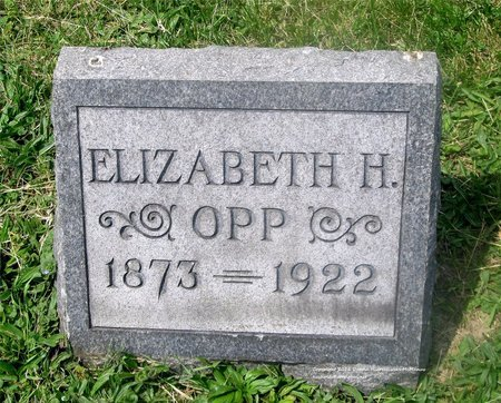 OPP, ELIZABETH H. - Lucas County, Ohio | ELIZABETH H. OPP - Ohio Gravestone Photos