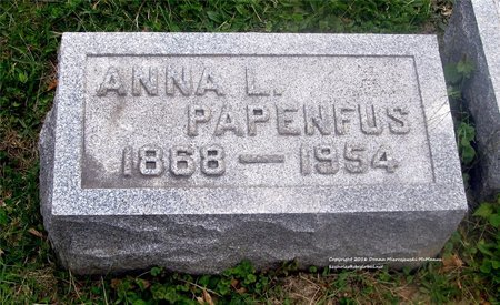 PAPENFUS, ANNA L. - Lucas County, Ohio | ANNA L. PAPENFUS - Ohio Gravestone Photos