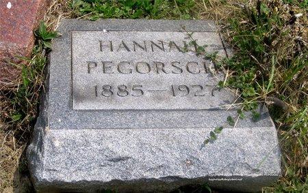 PEGORSCH, HANNAH - Lucas County, Ohio   HANNAH PEGORSCH - Ohio Gravestone Photos