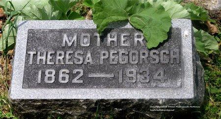 RETZLOFF PEGORSCH, THERESA - Lucas County, Ohio | THERESA RETZLOFF PEGORSCH - Ohio Gravestone Photos
