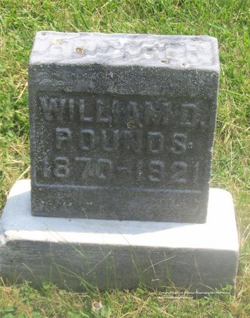 POUNDS, WILLIAM D. - Lucas County, Ohio | WILLIAM D. POUNDS - Ohio Gravestone Photos