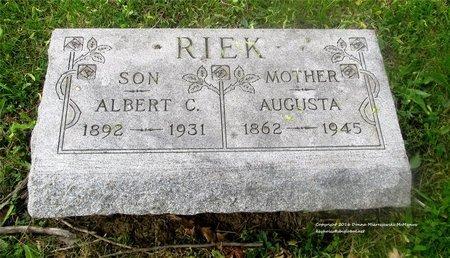 RIEK, ALBERT C. - Lucas County, Ohio | ALBERT C. RIEK - Ohio Gravestone Photos