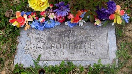 RODEMICH, HARRIETT - Lucas County, Ohio | HARRIETT RODEMICH - Ohio Gravestone Photos