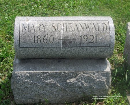 SCHEANWALD, MARY - Lucas County, Ohio | MARY SCHEANWALD - Ohio Gravestone Photos
