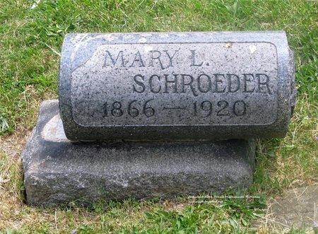 SCHROEDER, MARY L. - Lucas County, Ohio | MARY L. SCHROEDER - Ohio Gravestone Photos
