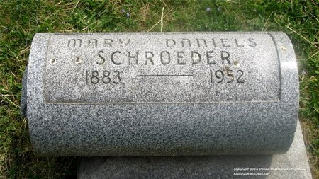 DANIELS SCHROEDER, MARY - Lucas County, Ohio | MARY DANIELS SCHROEDER - Ohio Gravestone Photos