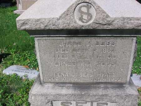 SEISS, JACOB - Lucas County, Ohio | JACOB SEISS - Ohio Gravestone Photos