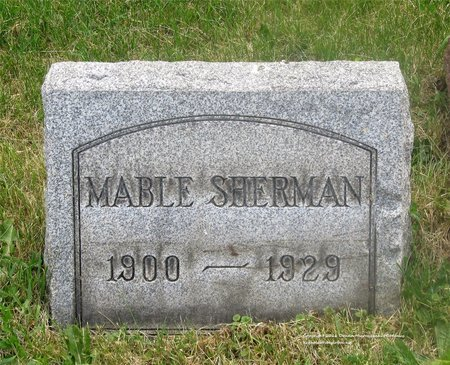 SHERMAN, MABEL - Lucas County, Ohio | MABEL SHERMAN - Ohio Gravestone Photos