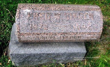 SINGER, FRED W. - Lucas County, Ohio | FRED W. SINGER - Ohio Gravestone Photos