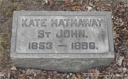 ST. JOHN, KATE - Lucas County, Ohio   KATE ST. JOHN - Ohio Gravestone Photos
