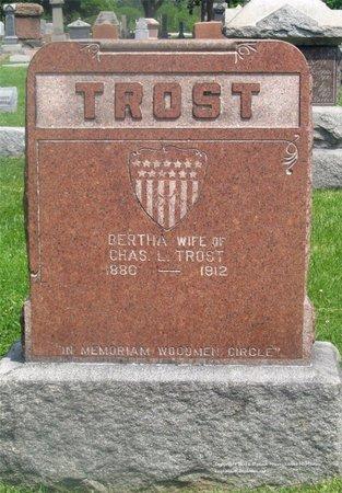 TROST, BERTHA - Lucas County, Ohio | BERTHA TROST - Ohio Gravestone Photos