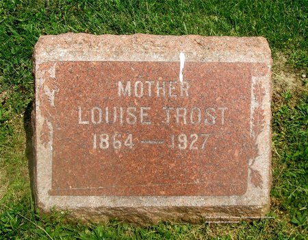 TROST, LOUISE - Lucas County, Ohio | LOUISE TROST - Ohio Gravestone Photos